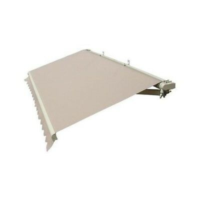 ALEKO Retractable Patio Awning 8 X 6.5 Ft Deck Sunshade Sand Color