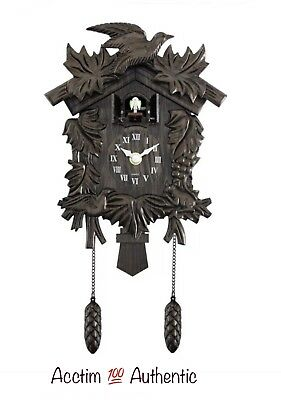 Acctim Roman numerals Hamburg Cuckoo Bronze Wood Effect Antique Wall Clock 27828
