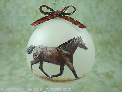 rH020 Hand-made Christmas Ornament HORSE - Appaloosa Appy blanket w/ spots bay