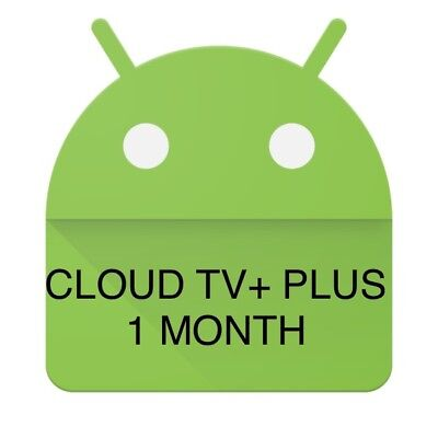 Cloud TV+ PLUS IPTV LIVE TV+VOD Android Firestick Devices 1 Month