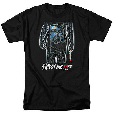 FRIDAY THE 13TH Movie Poster Vintage Horror Licensed Jason Adult T-Shirt SM-6XL