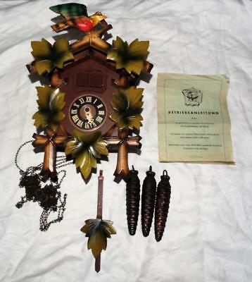 Vintage West German Black Forest Musical Cuckoo Clock,swiss Movement,working.