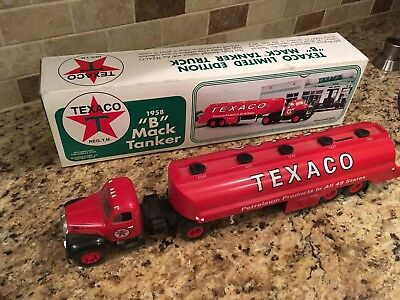 Texaco 1958 B Mack Tanker Coin Bank With Lights