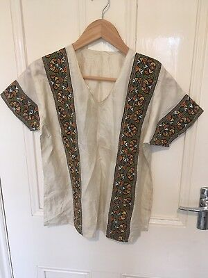 Vintage Silk Indian Embroidered Top Unusual