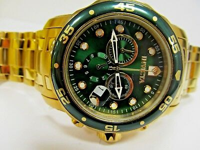 Invicta Pro Diver 0075 Chronograph Trintnite Markers Green dial Watch-Works-1