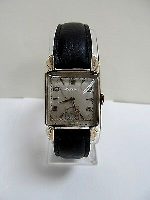 Vintage Benrus 17J 10k RGP Mechanical model BA 2 Square watch-Runs- 194
