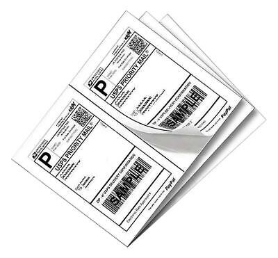 1000 Shipping Labels White Blank / Half Page / Self Adhesive for Laser Inkjet