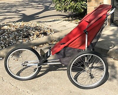 "Baby Jogger II-20 Good Used Condition 20"" Wheels, Red Baby Jogging Stroller"