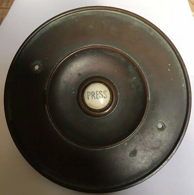 Vintage Bell Cover With Ceramic Bell Push