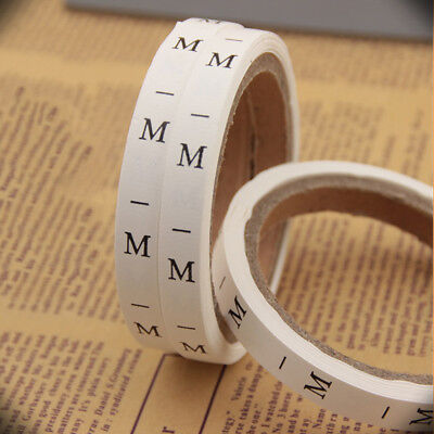 BL_ JN_ 6 Rolls Clothing Size Stickers Adhesive Labels for Retail Apparel S to 3