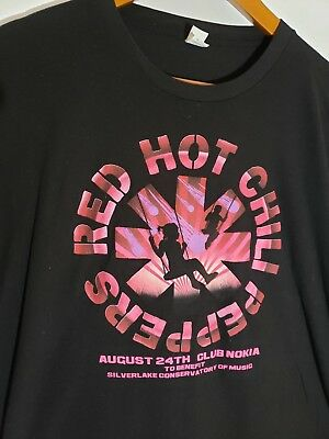 MENS RARE RED Hot Chili Peppers Authentic Concert Shirt Xl 2Xl 2003 ... 7fe1b0a7e
