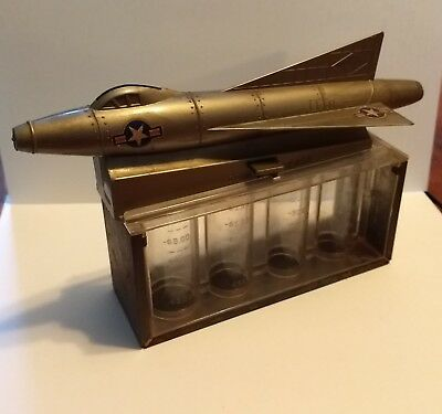 US Air Force Plastic and Metal Coin Mechanical Bank (Wolverine Toy Co.) Works