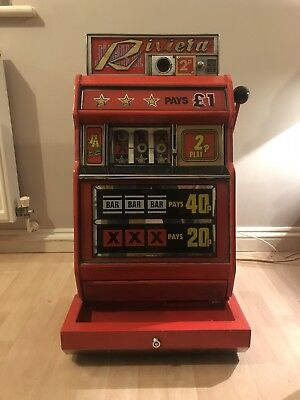 One Arm Armed Bandit Fruit Slot Machine Jubilee Riviera Retro Vintage 2p Play