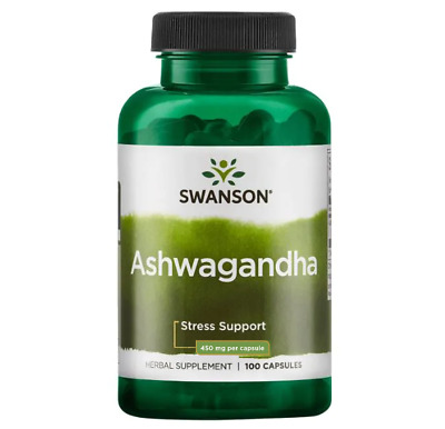 Ashwagandha Capsules 900mg Per serving Stress & Fatigue Relief Swanson