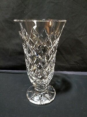 """Waterford Crystal Criss Cross, Footed Vase 7"""""""