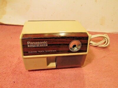 Vintage Panasonic Auto-Stop Electric Pencil Sharpener KP-110 VG WORKING COND