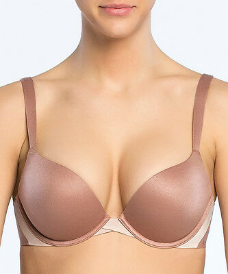 0fd2f992c7 SPANX BRA PLUNGE Push Up Size 32D Pillow Cup SF0515 Cocoa Blush Sara ...