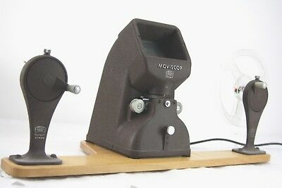 ZEISS MOVISCOP 8mm film editor/viewer + winders/baseboard, boxed,working (muray)