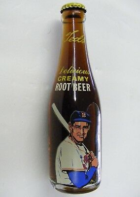 Ted Williams Moxie Cola Bottle Root Beer Boston Red Sox Vintage Unopened One