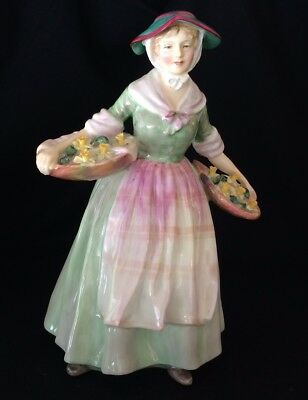"""Royal Doulton Figurine """"daffy-Down-Dilly"""" - Hn 1712 - 8"""" - Excellent Condition"""