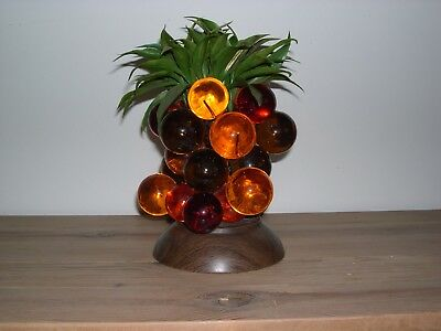 """Acrylic LUCITE PINEAPPLE Cluster LIGHT Mid Century Vintage Grapes 11"""" High X 7"""""""