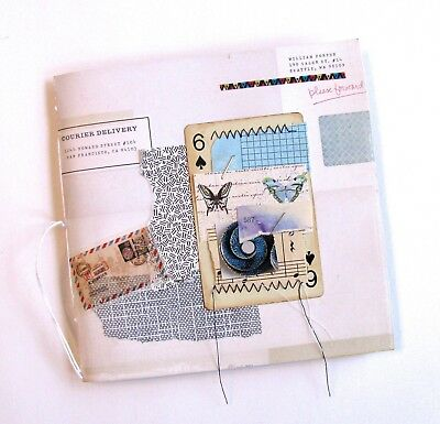 Handmade Junk Journal Blank Book Medium Collage Cover Envelope