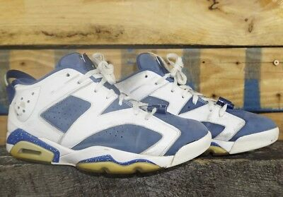 936cdee196b258 Nike Air Jordan 6 Retro Low Seahawks Men 304401 106 White Ghost Green Sz 11