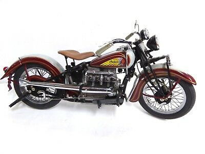 Danbury Mint 1:10 1938 Indian Four Motorcycle 1:10 Flawless Condition Double Box