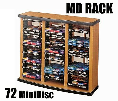 MiniDisc Rack Stand Wood New in Box