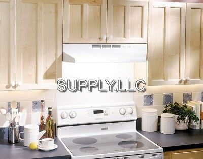 """24"""" OVER THE STOVE RANGE HOOD WHITE Exhaust Fan Non-Ducted Under Kitchen Cabinet"""