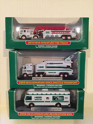 Hess Miniature Trucks 2008, 2009, 2010 Collectibles