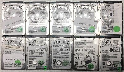 """Lot of 10 HGST 500GB SATA 2.5"""" Laptop hard drives *Tested & Working*"""