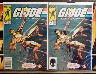 GI Joe A Real American Hero 21 - 1st print & 3rd Print -1st App. of Storm Shadow