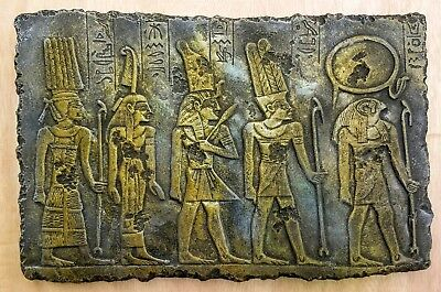 Egyptian Gods Wall Plaque (Horus, AMUN, MAAT, Tefnut) Ramses Special Addition