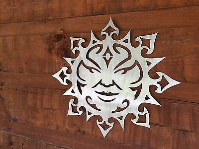 Southwest Sun Face  Clear Coated Metal Wall Art Home Decor Outdoor Patio Garden