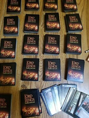 Lord of the rings trading card game lot of 1550 plus some extra