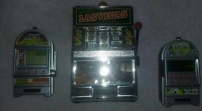 3 Slot Machine Bank Las Vegas Coin Lot Collection