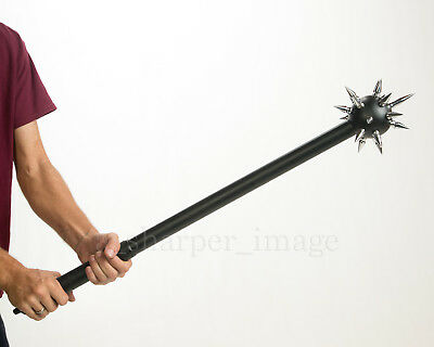 """Medieval Spiked Ball Mace Black + Silver Deadly Morning Star Morgenstern 34.5"""""""