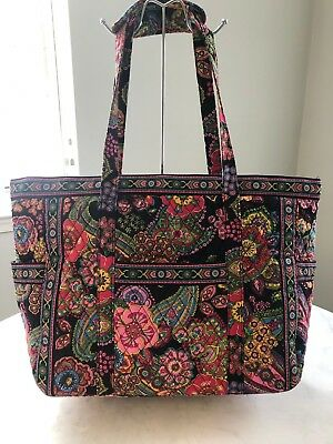 40a1858940 RARE Vera Bradley Get Carried Away Tote Bag in retired pattern Parisian  Paisley