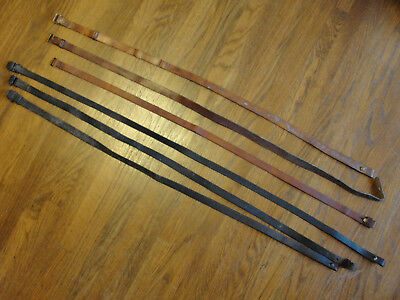 Mauser Rifle Slings, Leather, Lot of Six