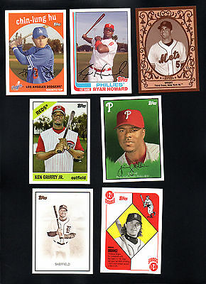 7 LOT 2008 TOPPS TRADING CARD HISTORY KEN GRIFFEY HOWARD WRIGHT rollins ORDONEZ