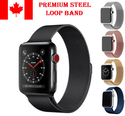 Magnetic Stainless Steel Loop Band iWatch Strap Replacement Band For Apple Watch