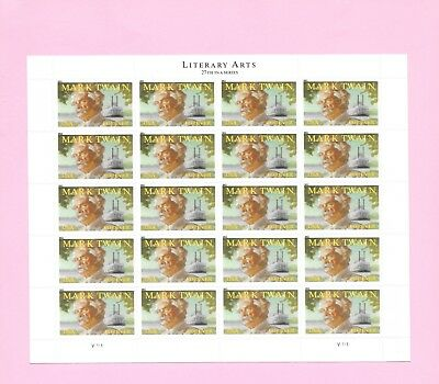 MARK TWAIN  - US STAMP SHEET 20 X FOREVER stamps SC# 4545 - MNH
