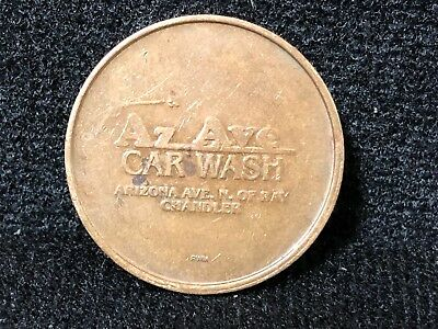 Arizona Ave. Car Wash Chandler Arizona Coin Wash Token No Cash Value D2