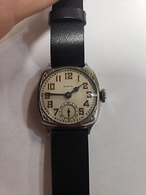 Antique 1930s Art Deco Style Elgin Man's Watch - PRICE REDUCED