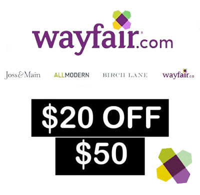 $20 off $50 Wayfair Coupon for new first time customers only - SHIP FAST-