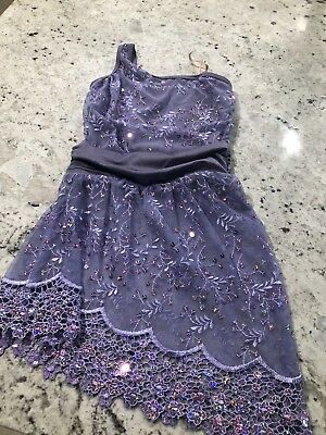 Curtain Call Purple Lyrical Dance Costume With Shorts
