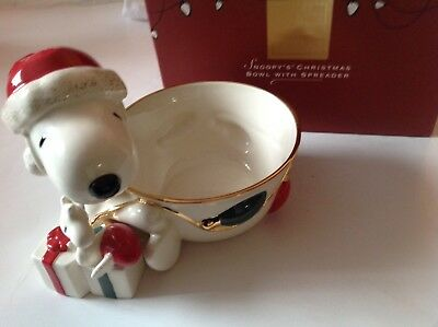 Lenox – For the Holidays – Peanuts' Snoopy's Christmas Bowl