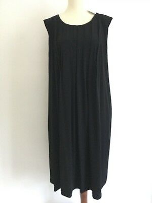 f2e7a5182f8 NEW Calvin Klein women s  109 plus size 2X black knit dress A-line pleated  front