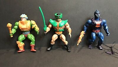 Vintage MOTU Man-At-Arms Tri-Klops Webstor Action Figure Lot He-Man Mattel